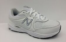 New Balance Men Walking Lace Sneakers White Leather MW840WT
