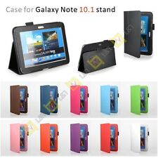 For Samsung Galaxy Note 10.1 N8000 N8010 Tablet PU Leather Skin Stand Case Cover