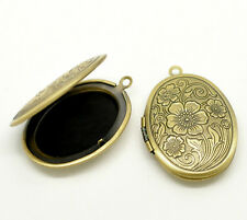 Wholesale HOT!Bronze Tone Picture/ Photo Frame Oval Locket Pendants
