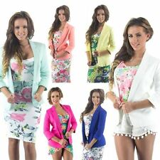 Womens Blazer New 3/4 Sleeve Lined Summer Colours