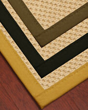 Ritz Natural Fiber Wool Sisal Rug [Available In Custom Border Color & Sizes]