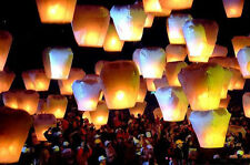 NEW White Red Green Yellow Chinese Fire Sky Lanterns wish Party Wedding Home