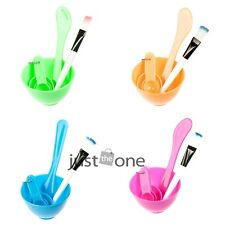 Beauty DIY Facial Face Mask Tool Set Mixing Bowl Brush Stick 3 Size Spoon 4 in 1