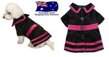 Dog Black Velvet Coat XS S M- Dress Chihuahua Jacket Jumper Puppy Pet Clothes