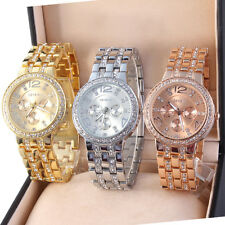Ladies Chronograph Girls' Quartz Analog Stainless Steel Rose Gold Silver Watch