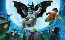 Lego Batman Giant Poster - A0 A1 A2 A3 A4 Sizes