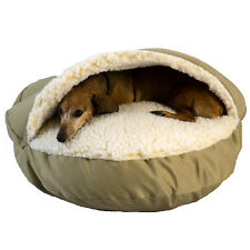"""Snoozer Cozy Cave Sherpa Interior 35"""" Large dog Nesting Pet Bed Cedar/Poly fill"""