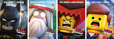 The Lego Movie Characters Poster Set of 4 - A4 A3 A2 Sizes