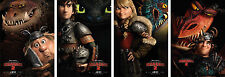 How To Train Your Dragon 2 Movie Characters Poster Set of 4 - A4 A3 A2 Sizes