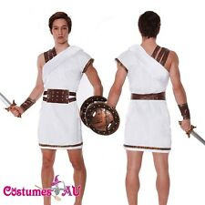 Mens Roman Greek Warrior Gladiator Spartan Toga Soldier Costume Fancy Dress
