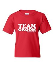 Team Groom Groomsman Wedding Novelty Statement Youth Kids T-Shirt Tee