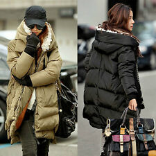 Women Winter Duck Down Jacket Thick Warm Military OverCoat Fur Hooded Parka Coat