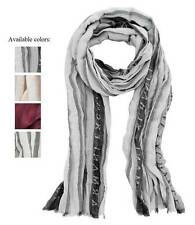 New AX Armani Exchange Mens Womens Frayed Logo Scarf  e6cx795