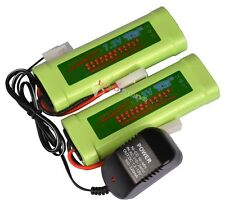 2x 7.2V 3800mAh Ni-MH Rechargeable Battery Pack+Charger