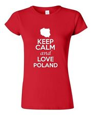 Junior Keep Calm And Love Poland Country Statement Novelty T-Shirt Tee
