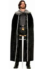 Brand New Game of Thrones Men's Faux Fur Trimmed Cape (Black) Costume Accessory