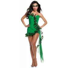 Sexy Poison Ivy Costume Trashy Lingerie Female Villain Halloween Fancy Dress
