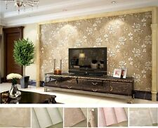 5Color Solid 3D Wallpaper Nonwovens Flocking Embossed Textured Wallpaper Roll