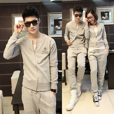 Fashion Men's Sport Suit Skeleton Korean Boutique Cardigan Couples Sweatjogging
