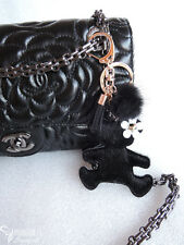 Cute leather Bear Love charm style Purse Handbag Key chain key ring gift