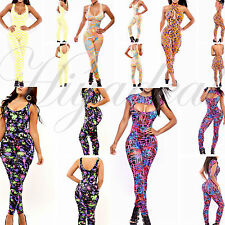 Sexy Womens Zipper Sleeveless Stretch Bodycon Long Rompers Jumpsuits Overalls