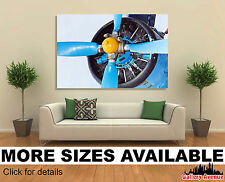 Wall Art Canvas Picture Print - Blue Airplane Propeller 3.2