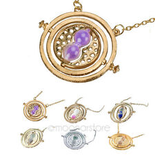 New cosplay Harry Potter Time Turner Necklaces Pendants Hourglass Gold Chain 1pc