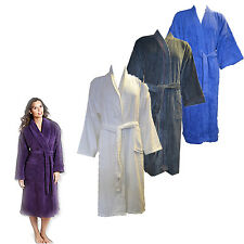 Unisex 100% Egyptian Cotton Bath Robe Toweling Gown with Belt&Pockets
