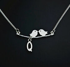 women jewelry A-Z customer necklace,,lovely couple birds  women girl necklace