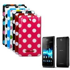 Polka Dots Soft TPU GEL Case Cover for Sony Xperia E, C1604, C1605, C1504, C1505