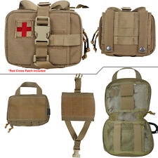 Horizontal Tear Away Medic First Aid Kit Molle Pouch (IFAK) (5 Color Options)