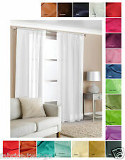 Plain Voile Curtain Panels Lots of Colours and Sizes Design Crystal