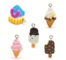 Wholesale DIY Jewelry Mixed Resin Ice Cream Charms Pendants