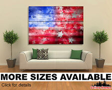 Wall Art Canvas Print (Unframed) - Abstract American Flag Background