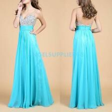A#S0 2014 Sexy Long Formal Wedding Prom Party Bridesmaid Evening Ball Gown Dress