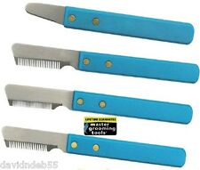 Grooming Tool DOG Hair Coat Hand Stripper Carding STRIPPING KNIFE*4 SIZES Knive