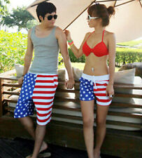 New Fashion Lovers USA Flag Board Shorts Surf Shorts Beachwear Swimming Shorts
