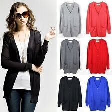2014 Cardigan Loose Long Sleeve Knit Sweater Coat Jumper Outwear Tops Jacket