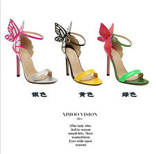 2014 New Fashion Celebrity Shoes Butterfly Sandals Heels With High Free shipping