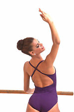 NEW! WOMENS BALLET DANCE CAMI LEOTARD WITH A CROSSED X BACK. 4 COLORS! (D358)