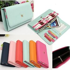 Fashion Pouch Long Purse Zipper Wallet Handbag Cards Phone Case For Ladies Women