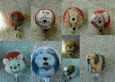Fluffy Dogs~Retractable Badge Reel~ID Holder
