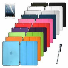 Leather Flip Smart Cover + Back Case For Apple iPad Mini
