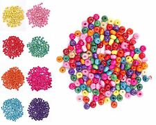500 Pcs New beads Colorful Rondelle Wood Spacer Loose Beads Charms 4*3 mm