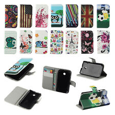 Hot Sale Leather Flip Wallet Card Clip Stand Hard Case Cover For Samsung For HTC