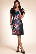BNWT M&S  Scoop Neck Floral Placement Rose Print Tunic Shift Dress