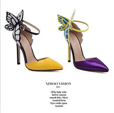 2014 New Hot Women Fashion Pointed Toe Butterfly Celebrity Paige Shoes With high