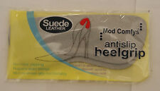 Unisex Mod Comfys Antislip Stick on Suede Leather Heel Grips Two in Pack Grey