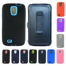 For Samsung Galaxy S4 Rugged Heavy Duty Case w/ Built-in Screen + Belt Holster