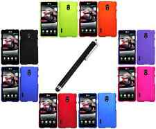 Color Hard Rubberized Snap-On Case Cover for LG Optimus F7 us780 + Black Stylus